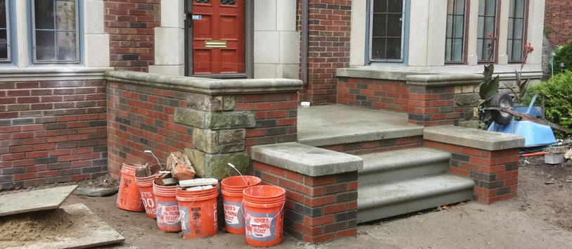 Macomb County Brick & Concrete Porch Repair